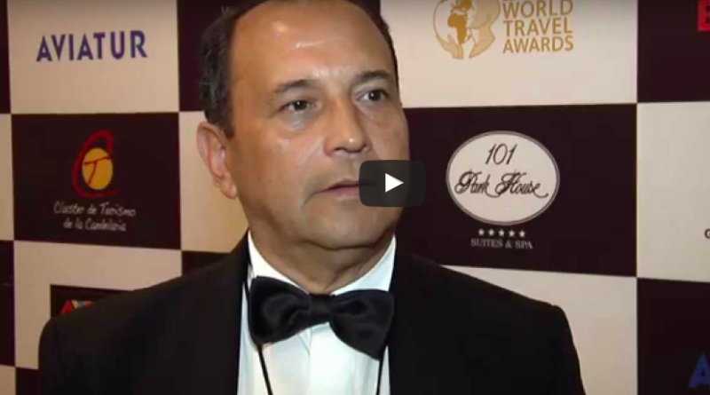 Tulio Alberto Pizarro Aguilar, Director Editor de la revista Passport Travel Tours Magazine entrevistado por la World Travel Awards