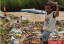 Comunidades en Filipinas convierten redes de pesca en alfombras