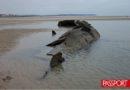 Los restos de un submarino alemán.