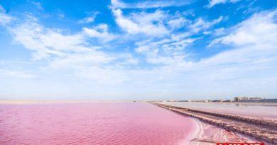 El lago rosa más impresionante de África